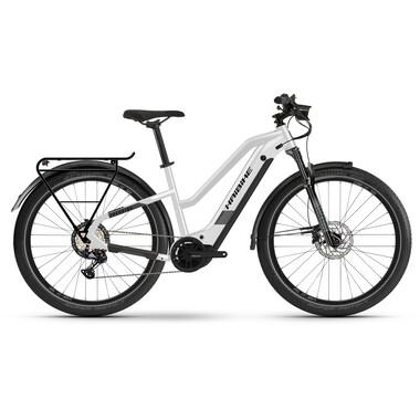 Vélo de Voyage Électrique HAIBIKE TREKKING 8 TRAPEZ Femme Blanc 2021